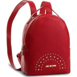 Plecak LOVE MOSCHINO - JC4117PP16LU0500  Rosso. Czerwone plecaki damskie marki Love Moschino, ze skóry ekologicznej, eleganckie. Za 719,00 zł.