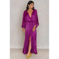 Sukienki: NA-KD Trend Satynowa sukienka-płaszcz - Purple