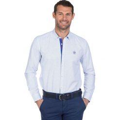 """Koszule męskie na spinki: Koszula """"Driver"""" w kolorze biało-niebieskim"""