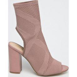 Answear - Sandały Lisa. Szare sandały damskie na słupku marki ANSWEAR, z materiału. W wyprzedaży za 79,90 zł.