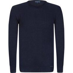 """Swetry klasyczne męskie: Sweter """"Spikes"""" w kolorze granatowym"""