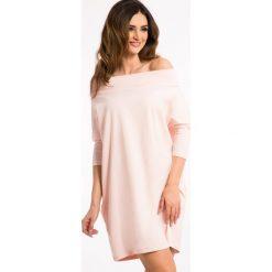 Sukienki: Bladoróżowa Sportowa Sukienka 3319