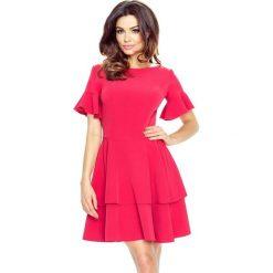 Sofia urocza sukienka 2 koła malina. Czerwone sukienki na komunię marki Bergamo. Za 154,00 zł.