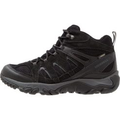 Merrell OUTMOST MID VENT GTX Buty trekkingowe black. Czarne buty trekkingowe męskie Merrell, z materiału, outdoorowe. Za 579,00 zł.