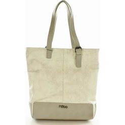 Shopper bag damskie: Wygodna torebka miejska shopper bag  biały