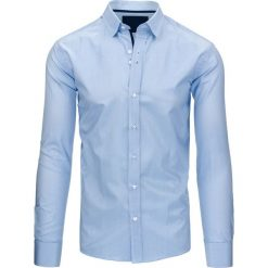 Koszule męskie: Błękitna koszula męska w paski (dx1237)