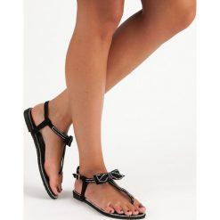 ISLA sandały japonki z kokardą czarne. Brązowe sandały damskie marki SMALL SWAN. Za 46,90 zł.