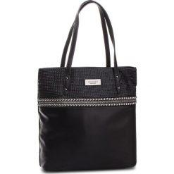 Torebka MONNARI - BAG9320-020 Black. Brązowe torebki klasyczne damskie marki Monnari, w paski, z materiału, średnie. W wyprzedaży za 199,00 zł.