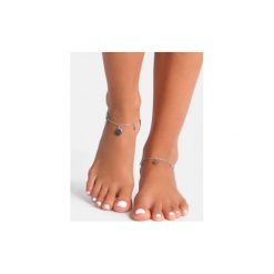 Bransoletki damskie na nogę: Srebrna bransoletka na kostkę Circle