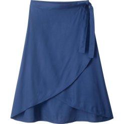 Spódnica kopertowa bonprix kobaltowy. Niebieskie spódniczki dziewczęce marki bonprix, z wiskozy, kopertowe. Za 59,99 zł.