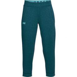 Spodnie sportowe damskie: Under Armour Spodnie damskie Featherweight Fleece Crop turkusowe r. L (1309708-716)