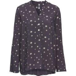Bluzki damskie: Bluzka w połyskujące gwiazdy bonprix ciemnoszaro-srebrny z nadrukiem
