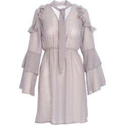 Khaki Sukienka Scene. Brązowe sukienki other, l, z koszulowym kołnierzykiem, koszulowe. Za 99,99 zł.