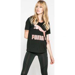 Puma - Top Archive Logo. Szare topy damskie marki Puma, l, z nadrukiem, z bawełny, z krótkim rękawem. W wyprzedaży za 99,90 zł.