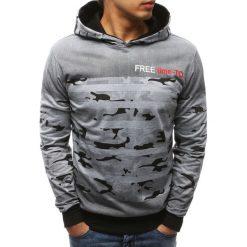 Bluzy męskie: Bluza męska z kapturem szara (bx3453)