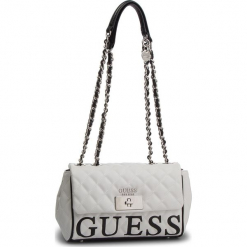 Torebka GUESS - HWVY71 75180 WML. Białe torebki klasyczne damskie Guess, z aplikacjami, ze skóry ekologicznej. Za 629,00 zł.
