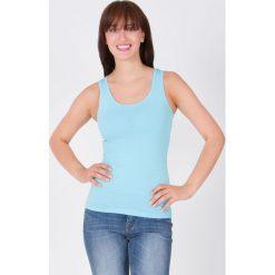 Bluzki damskie: Bluzka basic bokserka błękitna