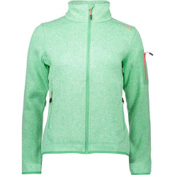 Kurtka polarowa w kolorze zielonym. Zielone kurtki damskie marki CMP Women, z dzianiny. W wyprzedaży za 136,95 zł.