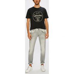 Guess Jeans - Jeansy Vermont. Szare jeansy męskie slim marki Guess Jeans, l, z aplikacjami, z bawełny. W wyprzedaży za 359,90 zł.