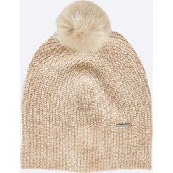 Liu Jo - Czapka. Szare czapki zimowe damskie marki Liu Jo, na zimę, z bawełny. W wyprzedaży za 139,90 zł.