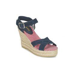 Sandały Superdry  ISABELLA ESPADRILLE WEDGE SHOE. Niebieskie sandały damskie Superdry. Za 191,20 zł.