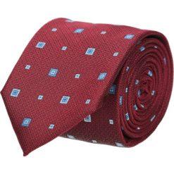Krawat platinum bordo classic 207. Czerwone krawaty męskie Recman, w geometryczne wzory, z tkaniny, eleganckie. Za 49,00 zł.