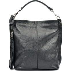 Torebki klasyczne damskie: Skórzana torebka w kolorze czarnym – 28 x 30 x 13,5 cm
