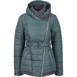 Płaszcze damskie: Zimowy krótki płaszcz bonprix szaro-zielony