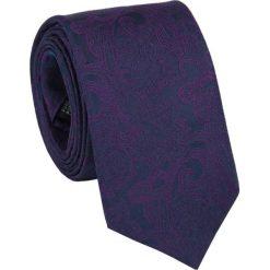 Jedwabny krawat KWGR000069. Fioletowe krawaty męskie Giacomo Conti, z jedwabiu. Za 129,00 zł.