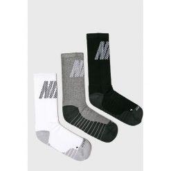 Nike - Skarpetki (3-pack). Szare skarpetki męskie Nike, z bawełny. Za 59,90 zł.