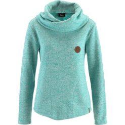 Bluzy damskie: Bluza bonprix zielony oceaniczny melanż