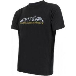Sensor Koszulka Termoaktywna Z Krótkim Rękawem Merino Wool Pt M Hory Black L. Czarne koszulki turystyczne męskie Sensor, l, z nadrukiem, z materiału. Za 189,00 zł.