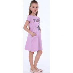 Sukienka dziewczęca z kieszeniami fioletowa NDZ8149. Szare sukienki dziewczęce marki Fasardi. Za 49,00 zł.