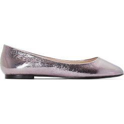 Baleriny damskie: Balerinki z metalowym detalem, odpowiednie na szerokie stopy 38-45