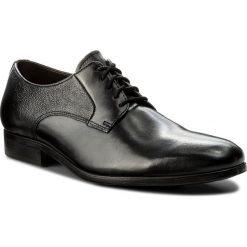 Półbuty CLARKS - Gilmore Lace 261339007 Black Leather. Czarne półbuty skórzane męskie marki Clarks. W wyprzedaży za 189,00 zł.