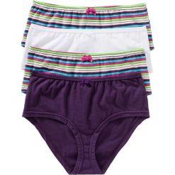 """Figi """"maxi panty"""" (4 pary) bonprix w kolorowe paski. Białe figi bonprix, w kolorowe wzory. Za 39,96 zł."""