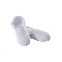 Buty do gimnastyki GYM 500. Białe halówki męskie DOMYOS, z poliesteru, na jogę i pilates. W wyprzedaży za 9,99 zł.