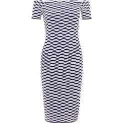 MICHAEL Michael Kors OTTOMAN  Sukienka etui true navy. Niebieskie sukienki dzianinowe marki MICHAEL Michael Kors, xl. W wyprzedaży za 395,60 zł.
