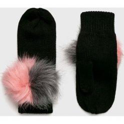 Answear - Rękawiczki. Czerwone rękawiczki damskie marki ANSWEAR, z dzianiny. W wyprzedaży za 39,90 zł.