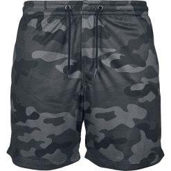 Urban Classics Camo Mesh Shorts Krótkie spodenki kamuflaż (Dark Camo). Niebieskie spodenki i szorty męskie marki Urban Classics, l, z okrągłym kołnierzem. Za 62,90 zł.