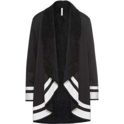 Płaszcze damskie pastelowe: Płaszcz bonprix czarno-biały