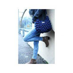 SZNURKOWA TOREBKA MIDI - KOLOR GRANATOWY. Niebieskie torebki klasyczne damskie Lililu, z bawełny. Za 159,00 zł.