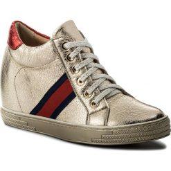 Sneakersy R.POLAŃSKI - 0924 Złoty Kryształ. Żółte sneakersy damskie R.Polański, z materiału. W wyprzedaży za 229,00 zł.