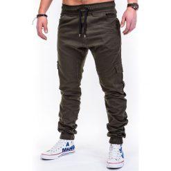 SPODNIE MĘSKIE JOGGERY P333 - ZIELONE. Zielone joggery męskie Ombre Clothing. Za 79,00 zł.
