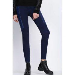 Spodnie damskie: Granatowe Spodnie Best Parts