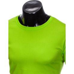 T-SHIRT MĘSKI BEZ NADRUKU S883 - LIMONKOWY. Zielone t-shirty męskie z nadrukiem marki Ombre Clothing, m. Za 19,99 zł.