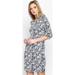 Sukienki: Granatowa Sukienka Tiny Prints