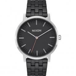 """Zegarek kwarcowy """"Porter"""" w kolorze czarno-srebrnym. Czarne, analogowe zegarki męskie Nixon, srebrne. W wyprzedaży za 272,95 zł."""