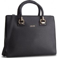 Torebka LIU JO - L Satchel Manhattan N68099 E0087 Nero 22222. Czarne torebki klasyczne damskie Liu Jo, ze skóry ekologicznej. Za 689,00 zł.