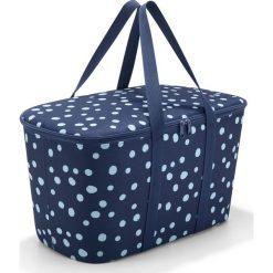 Torba Coolerbag Spots Navy. Niebieskie torby plażowe marki Reisenthel, z materiału. Za 149,00 zł.